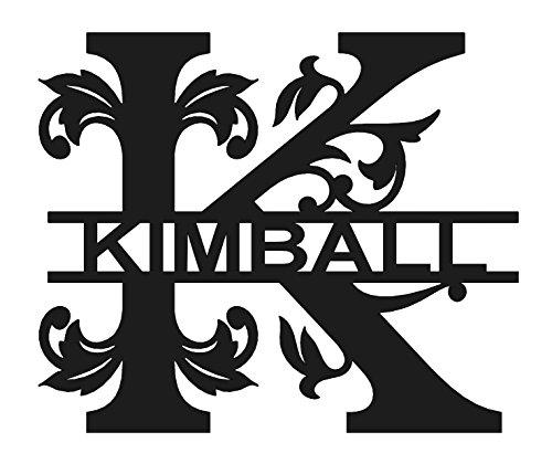 Regal Split Monogram Metal Family Name Wall Hanging