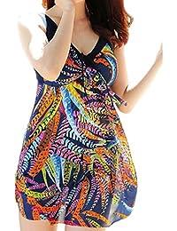 Wantdo Women's Plus Size Swimdress Flower Printed...