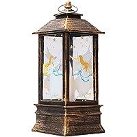 Yorten Christmas Flame Lamp Santa Claus Decorative Lamp Christmas LED Glow Candle Lamp Warm White Light
