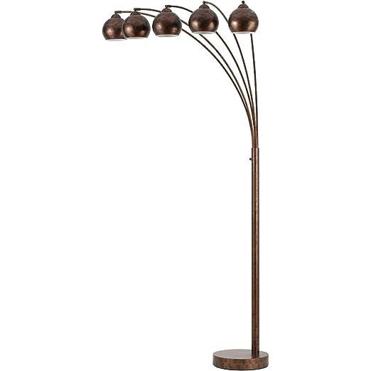 Amazon.com: Lámpara de pie con 5 lámparas de metal con ...
