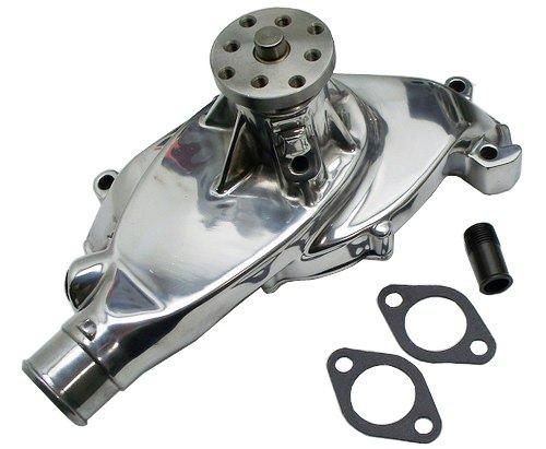 short chrome aluminum water pump High Volume Chevy Small Block Short