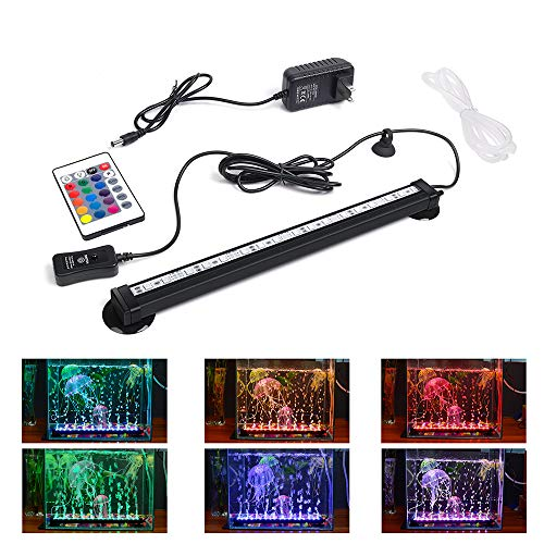 LED Aquarium Light, Smiful Submersible Fish Tank Light Colorful Remote Control Waterproof Crystal Glass LEDs Lights Bar (11