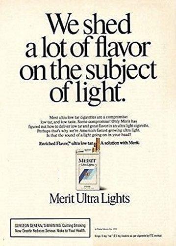 original-print-ad-1989-merit-ultra-lights-we-shed-a-lot-of-flavor-vintage-color-ad-usa-nice-original