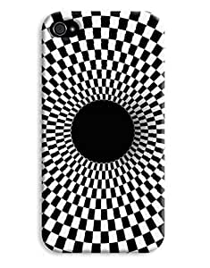 Black and White Vortex Case for your iPhone 4/4s by lolosakes