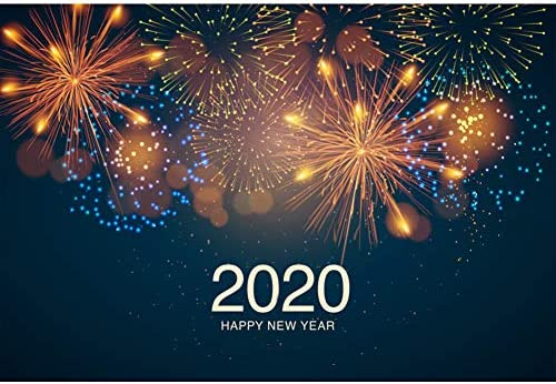 4X6FT-New Year Fireworks Photography Backdrops Dream Lighting Photo Studio Background