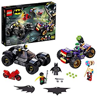 LEGO DC Batman Joker's Trike Chase 76159 Super-Hero Cars and Motorcycle Playset, Mini Shooting Batmobile Toy, for Fans of Batman, Robin, The Joker and Harley Quinn, New 2020 (440 Pieces)