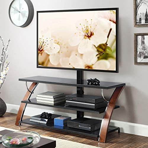 """Whalen Payton Brown Cherry 3-in-1 Flat Panel TV Stand for TVs as much as 65"""""""
