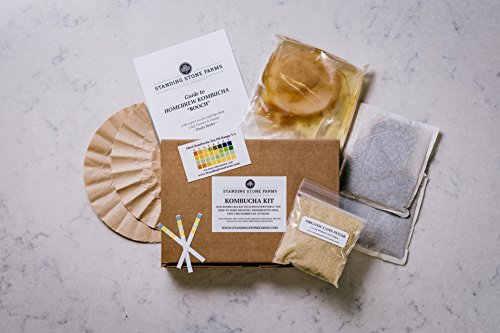 Standing Stone Farms Kombucha Tea Home Brew Starter Kit - Our Kombucha Making Kit is the Perfect way to Make your own Organic Homemade Kombucha!