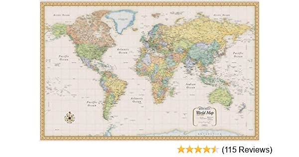 By Rand Mcnally And Company Rand Mcnally World Map Classic Edition