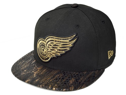 New Era 59FIFTY MLB Detroit Red Wings Snake Vize Black Gold Size 7 d0eddb0a3733