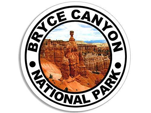 JR Studio 4x4 inch Round Bryce Canyon National Park Sticker -Decal Hike Hiking Inspiration Vinyl Decal Sticker Car Waterproof Car Decal Bumper -