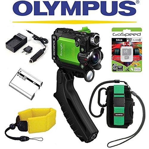Olympus Stylus Tough TG-Tracker Wifi Action Camera (Green) + Olympus TG-Tracker Case...