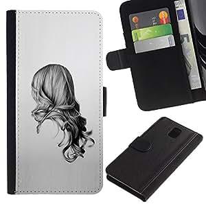 KLONGSHOP // Tirón de la caja Cartera de cuero con ranuras para tarjetas - Belleza Volver - Samsung Galaxy Note 3 III //