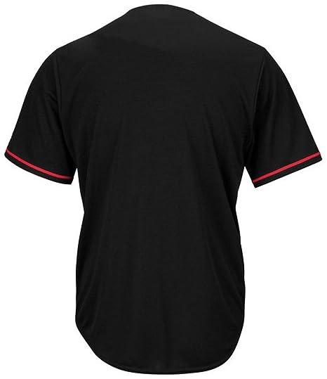 f43a4549149 Amazon.com   VF Philadelphia Phillies MLB Mens Majestic Black Fashion  Jersey Big Sizes (XLT)   Sports   Outdoors