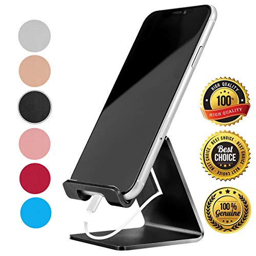 Cell Phone Stand Holder – Urmust Z1 Aluminum Desktop Solid Portable Universal Desk Stand Compatible with All Mobile Smart Phone Huawei iPhone X 8 7 6 Plus 5 Ipad Mini Tablet Office Decor
