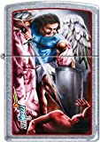 Zippo Claudio Mazzi Designed Angel SAN MICHELE Street Chrome Lighter NEW Rare