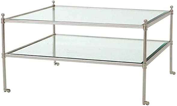 Amazon Com Glass Coffee Table On Wheels Eichholtz Aubrey