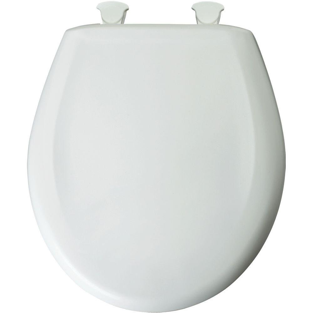 40cm round toilet seat. Bemis 200SLOWT000 Whisper Close Round Seat  White Toilet Seats Amazon com
