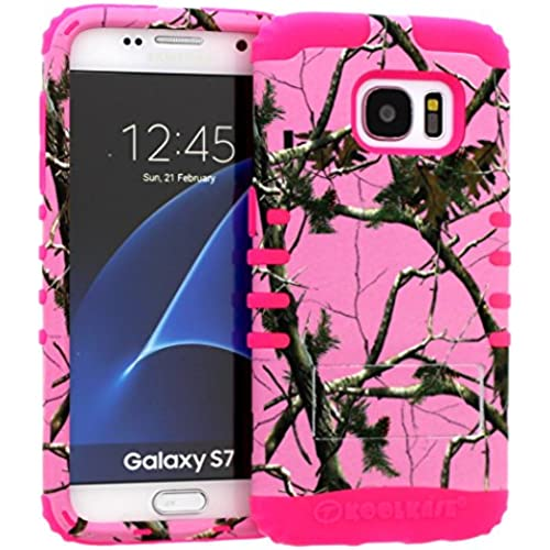 Galaxy S7 Case, Hybrid Heavy Duty Rugged Armor Kickstand Shock Proof Impact Resistant Grip Cover for Samsung Galaxy S7 (Pink Camo / Pink) Sales