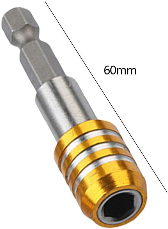 1x Porte-embout de tournevis magn/étique 1//4 /à tige hexagonale 60 mm adaptateur de mandrin de rallonge ecrous pour vis foret et tournevis manuel