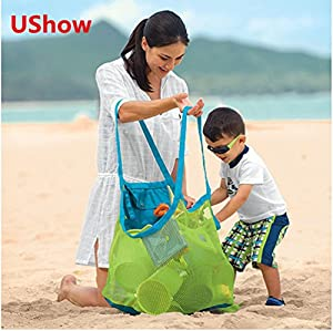 Amazon.com: 5Shome® Extra Large Family Mesh Beach Bag Tote ...