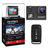 AKASO V50 Native 4K 30fps 20MP WiFi Action Camera with EIS, Ultra HD 30m Waterproof Camera with Remote Control, 170 Degree Wide Angle, 2 Rechargeable Batteries and Mounting Accessories Kit