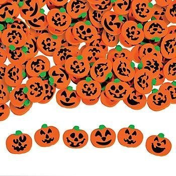 144 ~ Halloween Pumpkin Jack-o-lantern Mini Erasers ~ Approx. 3/4