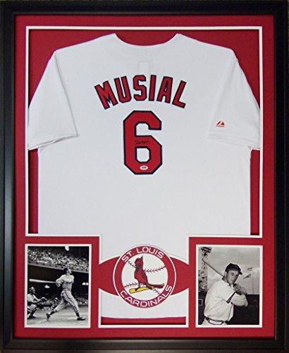 (Stan Musial St. Louis Cardinals Autograph Signed Custom Framed Jersey #2 PSA/DNA Certified)