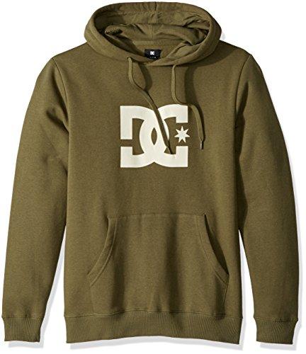 - DC Men's Star Pullover Hoodie Sweatshirt, Vintage Green/Antique/White, S