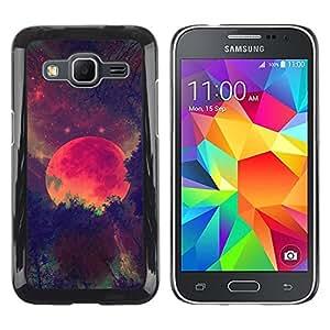 iKiki Tech / Estuche rígido - Moon Winter Forest Painting Night - Samsung Galaxy Core Prime SM-G360