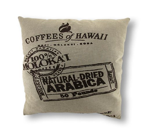 Things2Die4 Coffee of Hawaii Linen Decorative Throw Pillow -