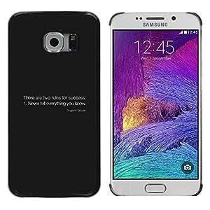 LECELL--Funda protectora / Cubierta / Piel For Samsung Galaxy S6 EDGE -- Reglas del éxito --