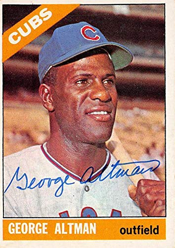 George Altman Autographed Baseball Card Chicago Cubs 67 1966