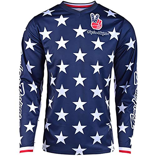 Troy Lee Designs GP Independence Limited Edition Youth Off-Road Motorcycle Jersey - Navy/Red/Medium