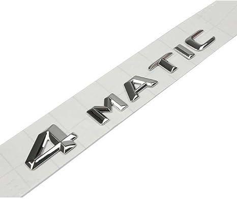 Logo autocollant argent/é en 3D pour hayon de coffre voiture AMG 4/Matic Taille dorigine