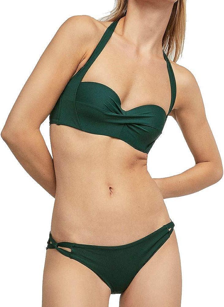 Kangma Women Swimwear Bikini Solid Two-Piece Swimsuit Tankini Beach Swimsuit