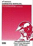 31HN8620 2005 Honda TRX650FA FGA FourTrax Rincon w GPScape ATV Owners Manual