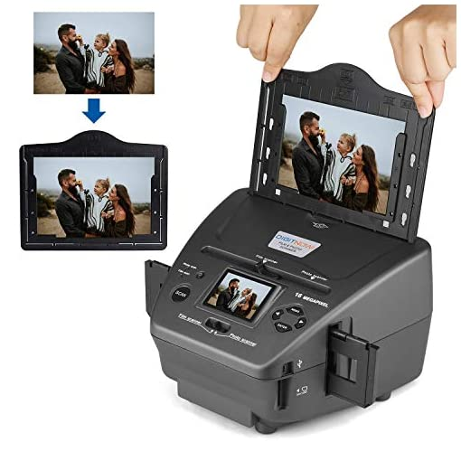 All-in-One High Resolution 16MP Film Scanner, with 2.4″ LCD Screen Converts 35mm/135slides&Negatives Film Scanner Photo, Name Card, Slides and Negatives for Saving Films to Digital Files Film Scanners [tag]