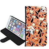 iPhone SE Case, iPhone 5s 5 Case, Pikachu Pokemon PU Leather Folio Flip Wallet Case Cover with ID Credit Card Holder with Stand for iPhone 5s/5/SE + Thewart_Eight® Stylus Pen (#036)
