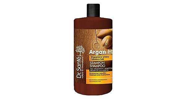 Champú Natural de Aceite de Argán y Queratina (Keratina) para Cabello - Pelo Dañado sin Sulfatos ni Parabenos Dr. Sante 1000ml: Amazon.es: Belleza
