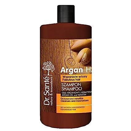 Champú Natural de Aceite de Argán y Queratina (Keratina) para Cabello - Pelo Dañado