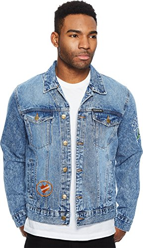 Members Only Men's Denim Trucker Jacket, Rugrats, Small (90s Denim Jacket)