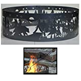 PD Metals Steel Campfire Fire Ring Northwoods Campground Design - Unpainted - with Fire Poker - Large 48 d x 12 h Plus Free eGuide