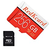 RedKcard Micro SD Card Memory Card Mini SD Card SDHC SDXC TF Card for Smartphone Tablet (256GB, Red)