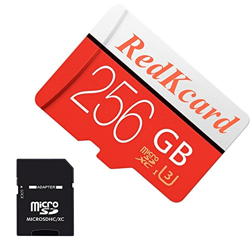 - RedKcard Micro SD Card Memory Card Mini SD Card SDHC SDXC TF Card for Smartphone Tablet (256GB, Red)