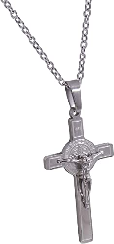 LOPEZ KENT Stainless Steel Neckless for Men Triangle Pendant Necklace Black Silver Necklaces