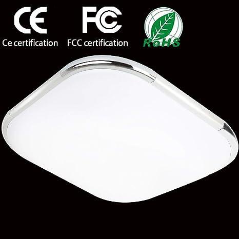 Pasillo Sala 30cm Blanco de Moderna Dormitorio Lámpara de lámpara de Lámpara Ahorro energía 6500k Cocina Ultraslim 12W pared techo Hall LED de estar uOlPXTkZiw