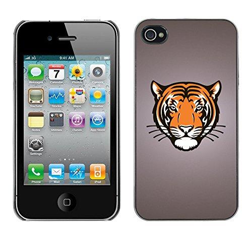 TaiTech / Case Cover Housse Coque étui - Tiger Portrait Drawing Face Animal Big Cat Wild - Apple iPhone 4 / 4S