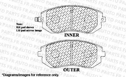 Front Kit 2 Cross-Drilled Disc Brake Rotors 5lug High-End Fits:- Subaru 4 Ceramic Pads