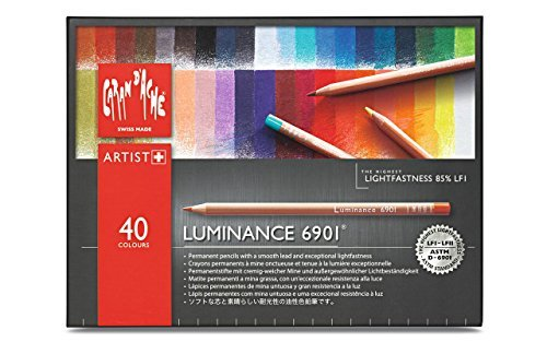 CREATIVE ART MATERIALS Caran D'ache Luminance Colored Pencil Set of 40 (6901.740) by CREATIVE ART MATERIALS by Cell Distributors